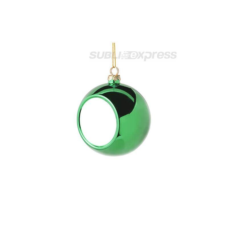 Szublimációs karácsonyfa gömb 8 cm átmérőjűzöld színű