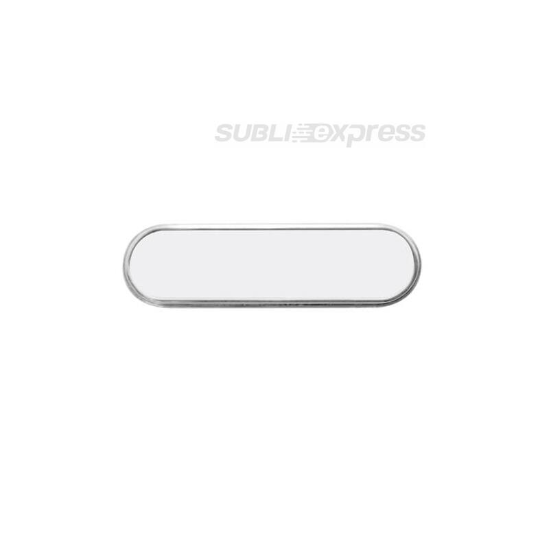 7,1 x 2,1 cm-es szublimációs fém névkitűző szögeletes lekerekített szélű