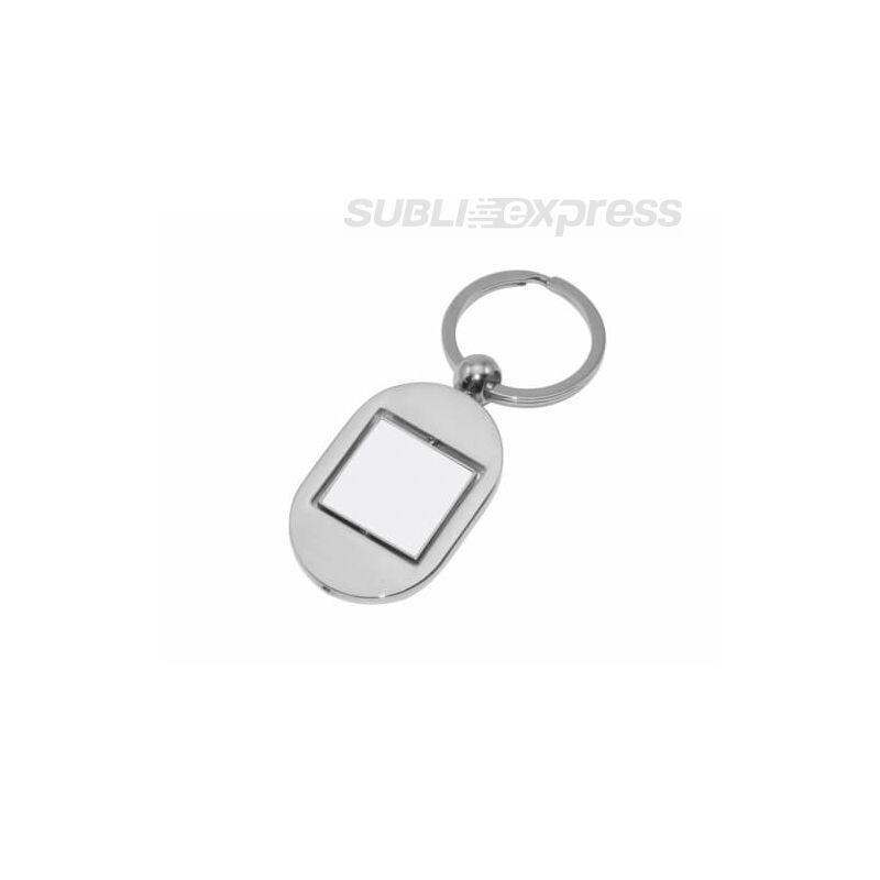 Szublimációs fém kulcstartó forgatható szögletes