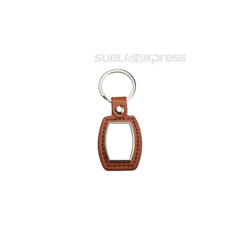 Szublimációs kulcstartó hordó alakú barna bőr alapon