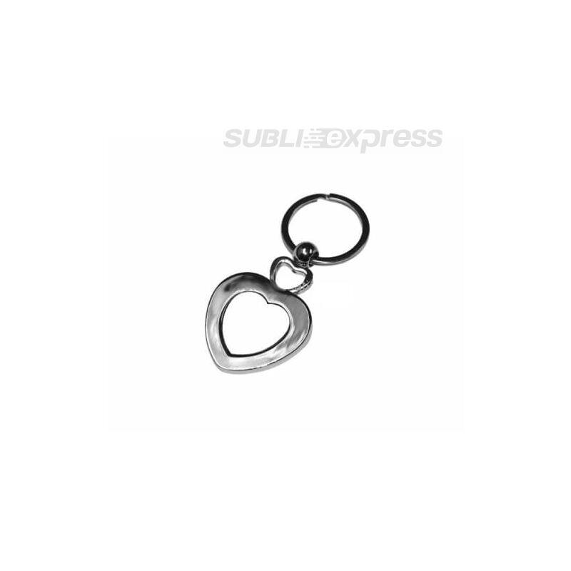 Szublimációs fém kulcstartó szív alakú