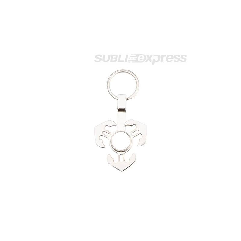 Szublimációs fém kulcstartó horog alakú fidget spinnerrel
