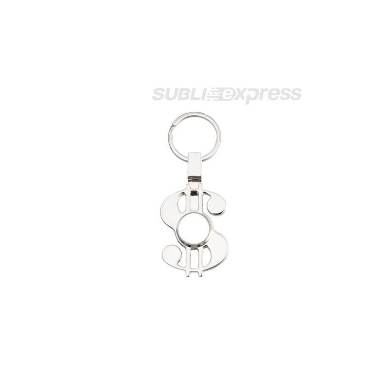 Szublimációs fém kulcstartó dollár alakú fidget spinnerrel