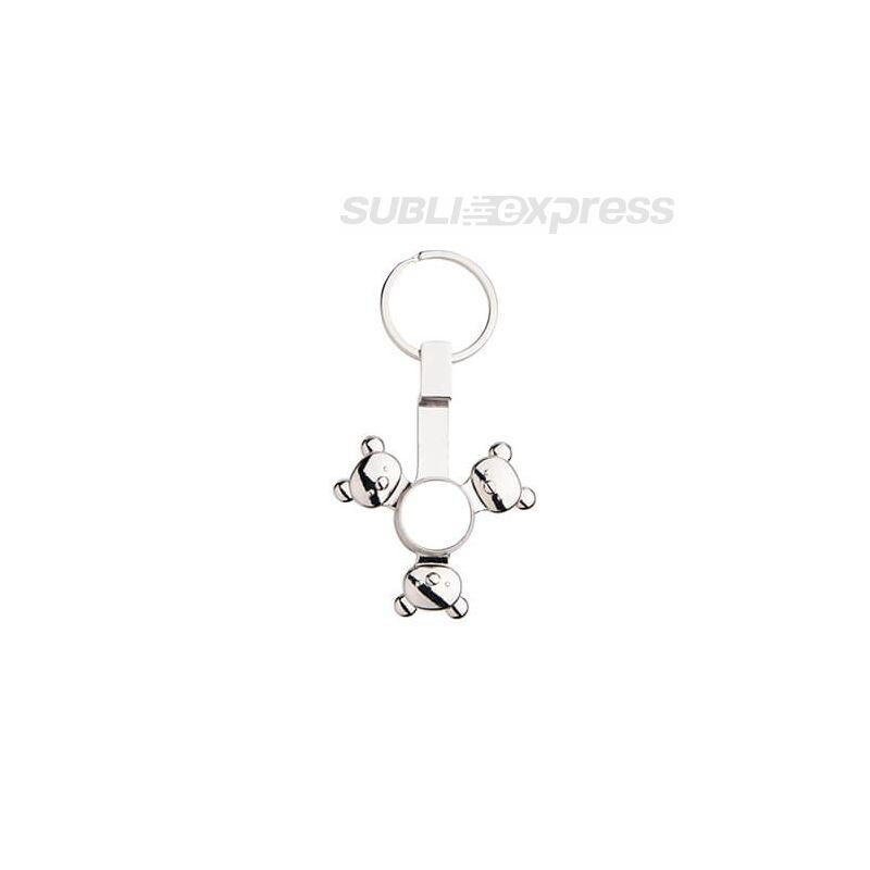 Szublimációs fém kulcstartó panda alakú fidget spinnerrel