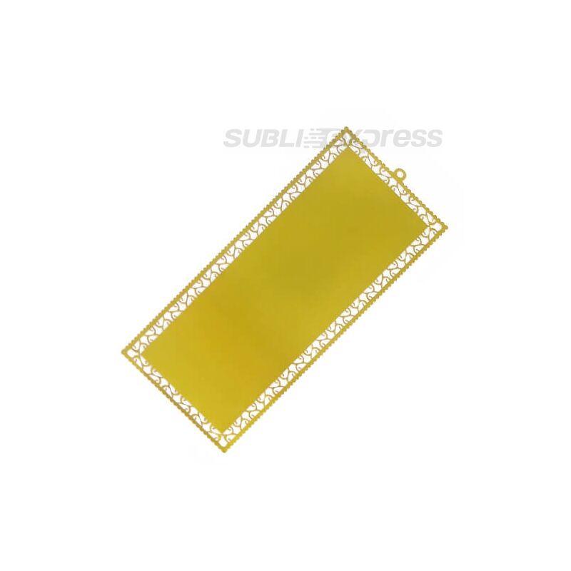 Szublimációs könyvjelző arany színű fém (10 darab)