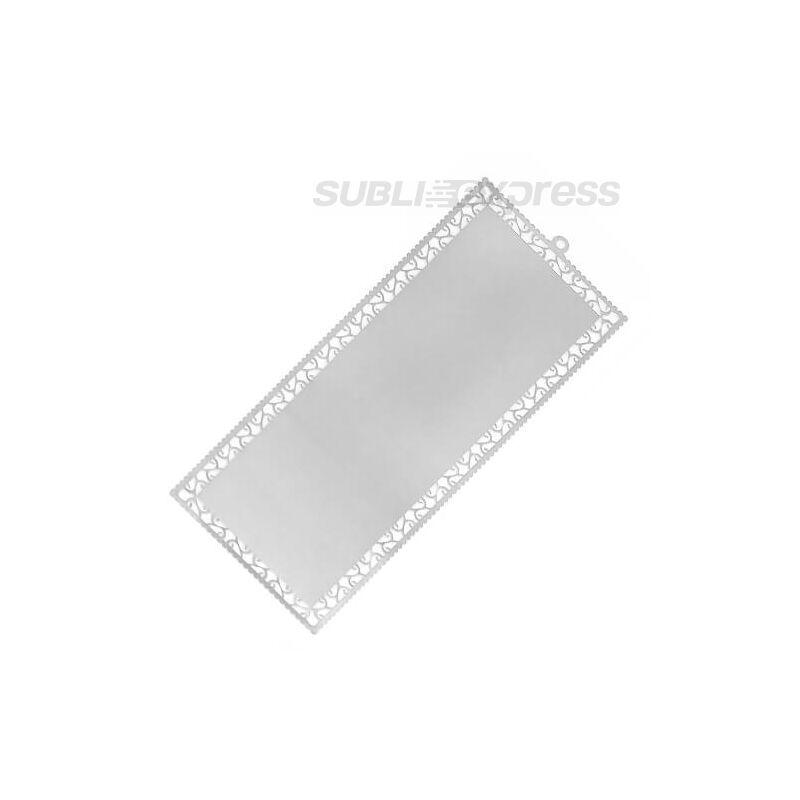 Szublimációs könyvjelző ezüst színű fém (10 darab)